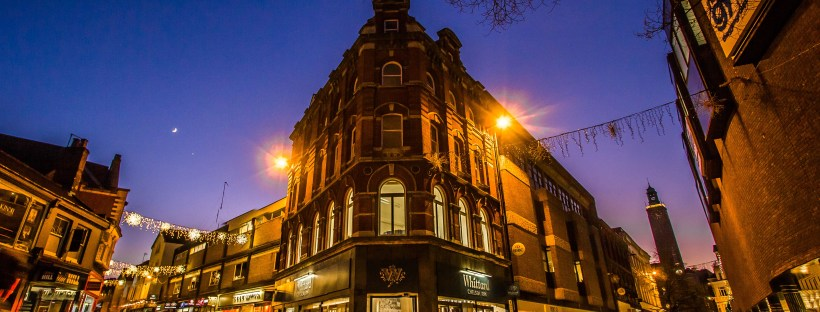 norwich city centre nighttime shops