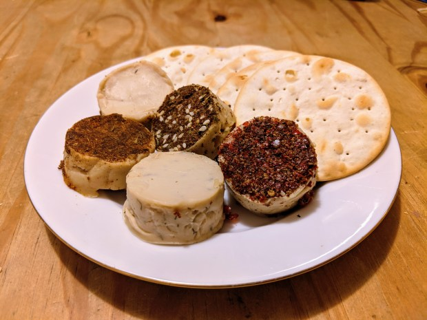 Tyne Chease mini vegan cheese samples