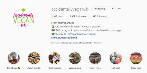 accidentally vegan instagram
