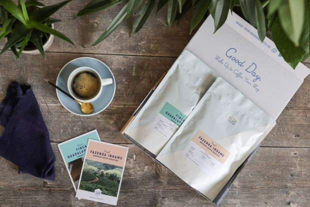 blue coffee box subscription delivery