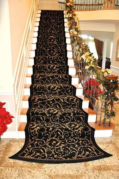 Stair Runners Services In Howell Nj By Just Carpets Flooring Outlet | Floral Carpet For Stairs | Modern | Brown Pattern | Pattern | Laminate | Diamond Pattern