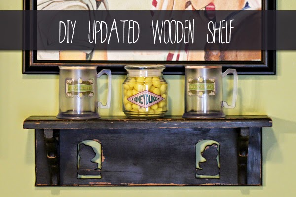 DIY Updated Wooden Shelf