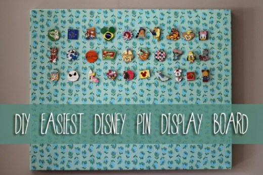 DIY Easiest Disney Pin Display Board