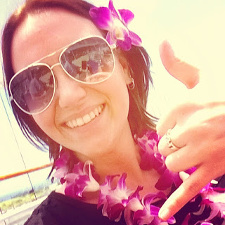 Jenni with fresh flower lei