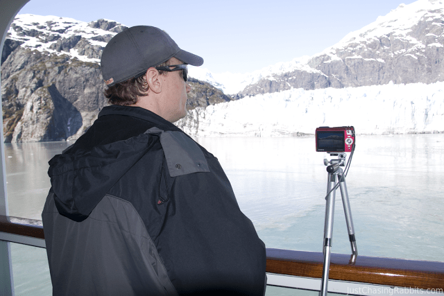 Mark recording the action in Glacier Bay