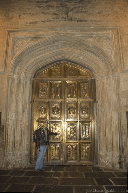 Mark with the doors to the Great Hall
