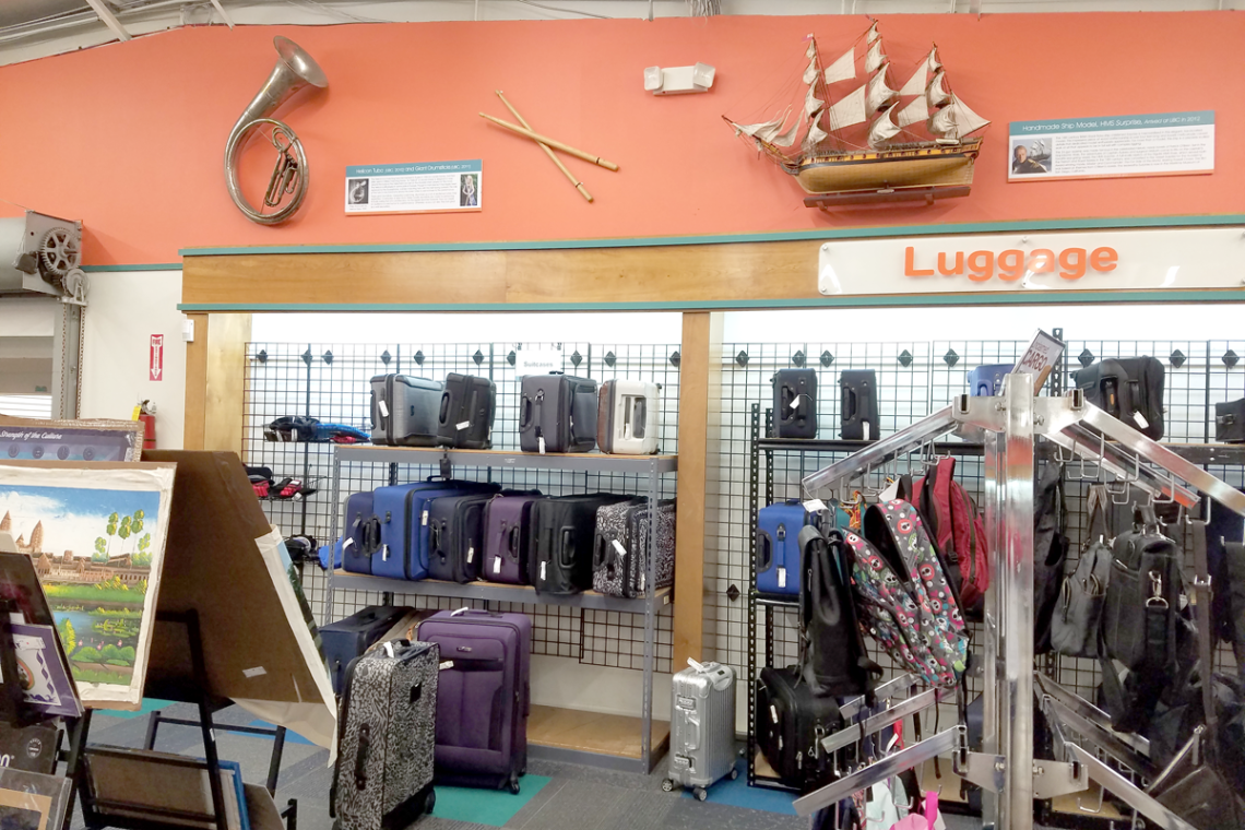 Unclaimed Baggage Luggage Section