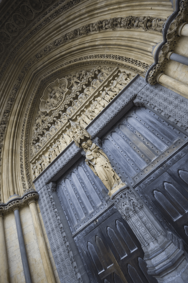 Exterior door at Westminster Abbey