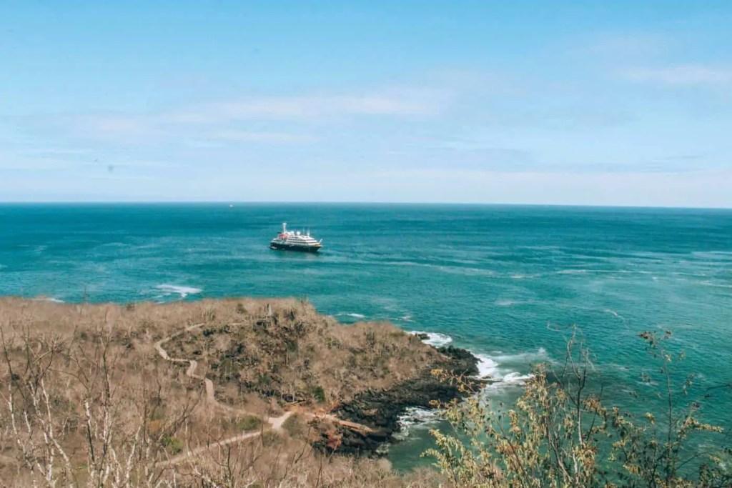 View of Cerro Las Tierjetas San Cristobal Galapagos Islands