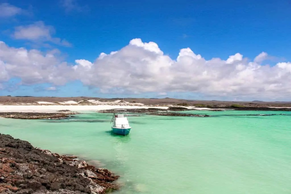 Boat in Teal Waters