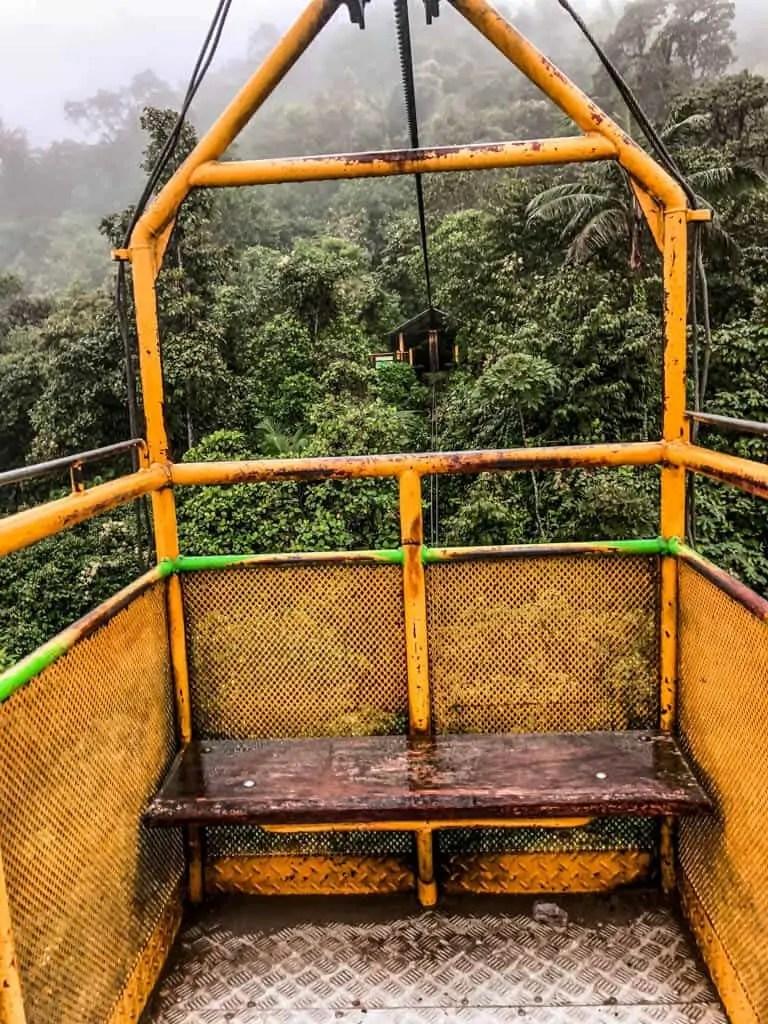 The Tarabita in Mindo Ecuador