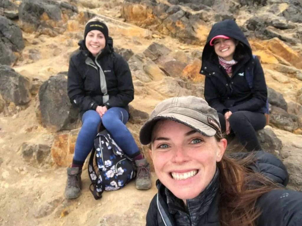 friends from hiking pichincha