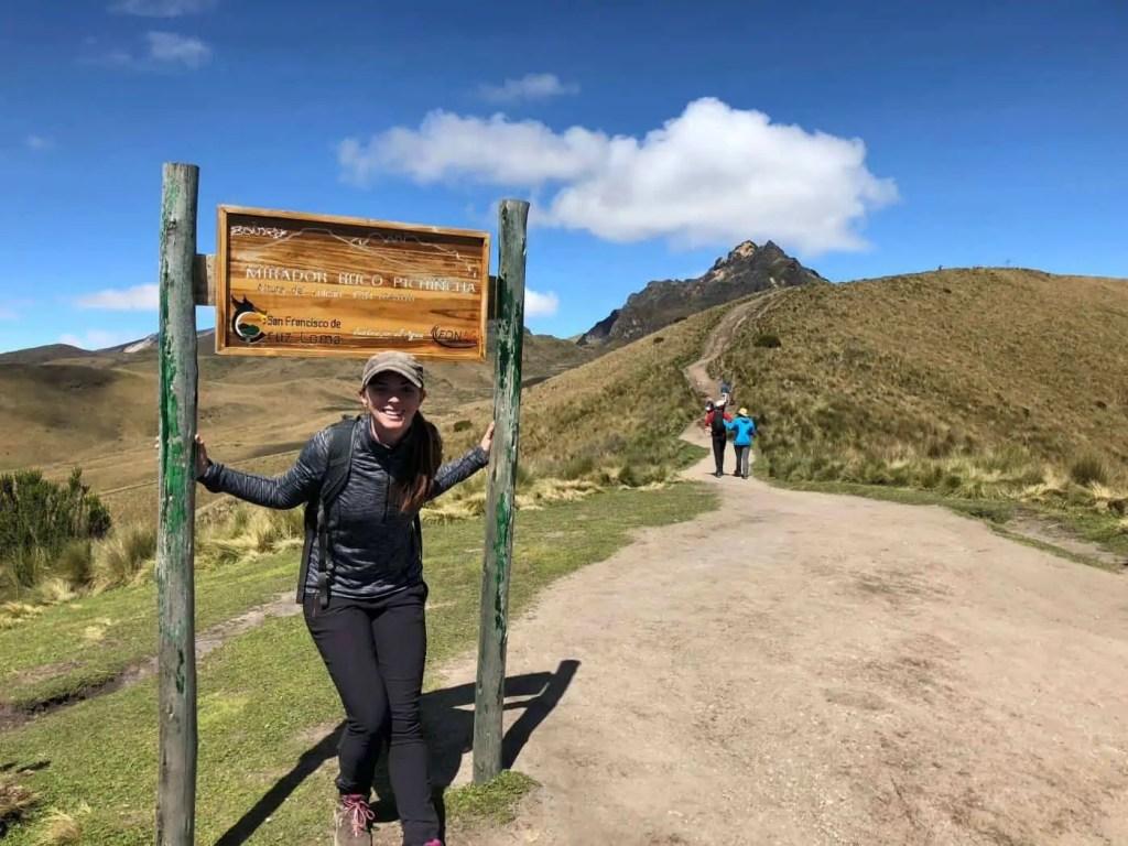 The beginning of the rucu pichincha hike