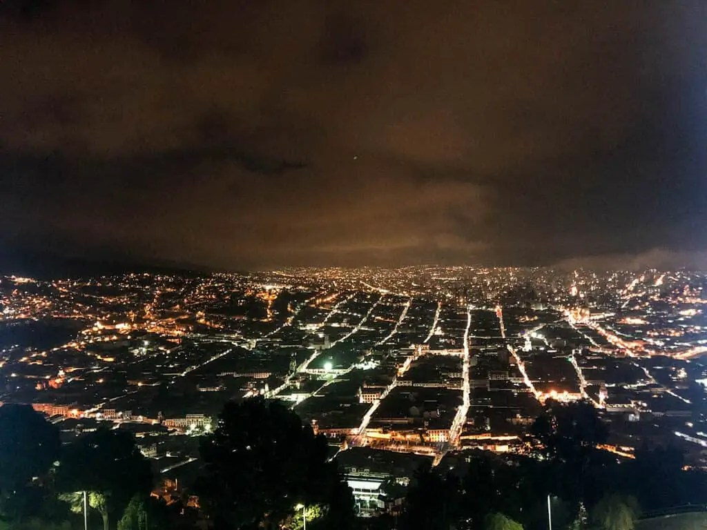 View from the Panecillo at Night
