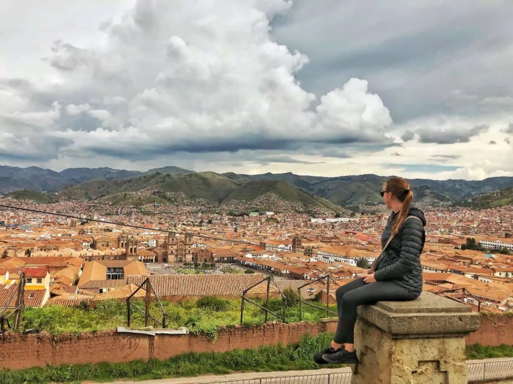 View from Plaza San Cristobal in Cusco