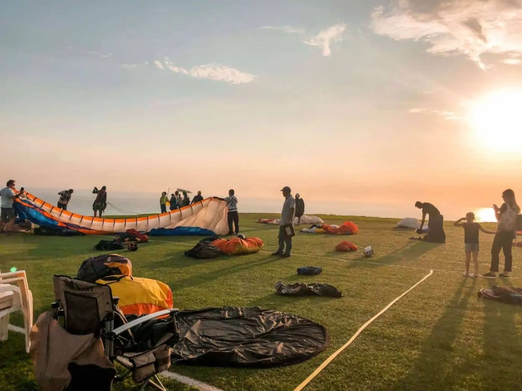 Launching area for paragliding in Lima
