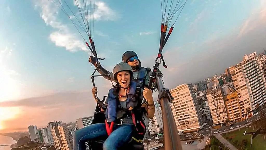Paragliding in Lima, Peru