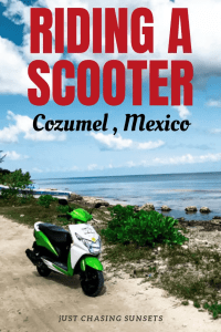 riding a cooter cozumel mexico