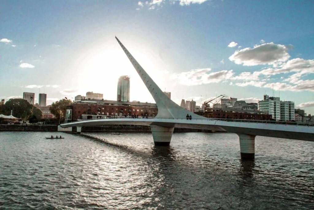 punta de la mujer bridge at sunset