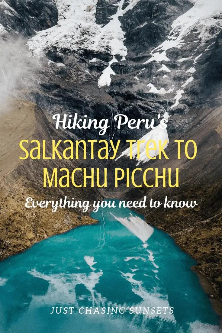 hiking Peru's Salkantay trek to Machu Picchu