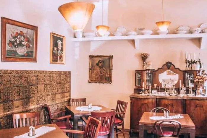 Budapest Food Tour Stop 3 - Inside of Klauzal Cafe