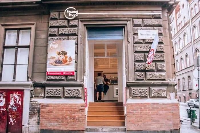 the entrance to strudel hugo