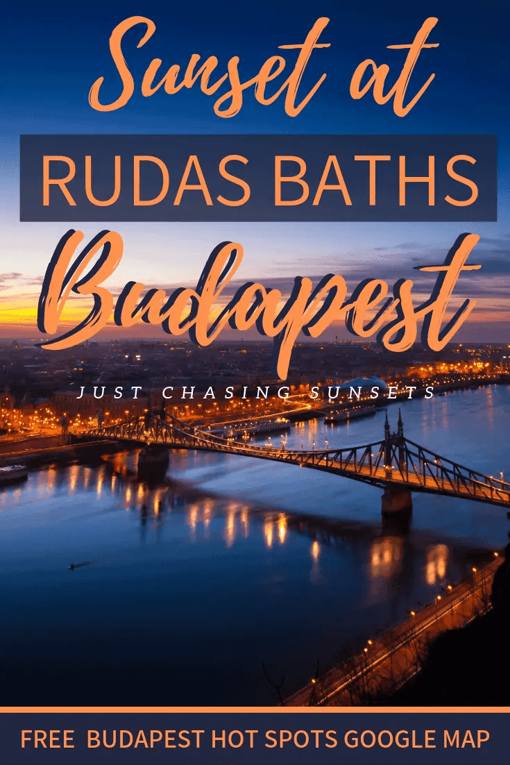Sunset at Rudas Baths in Budapest