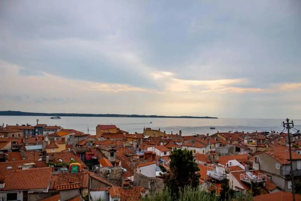 View from St. George's Church Piran, Slovenia