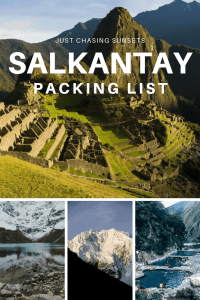 Salkantay Packing List
