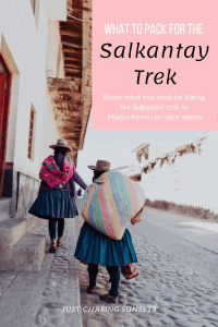 What to pack for the Salkantay trek