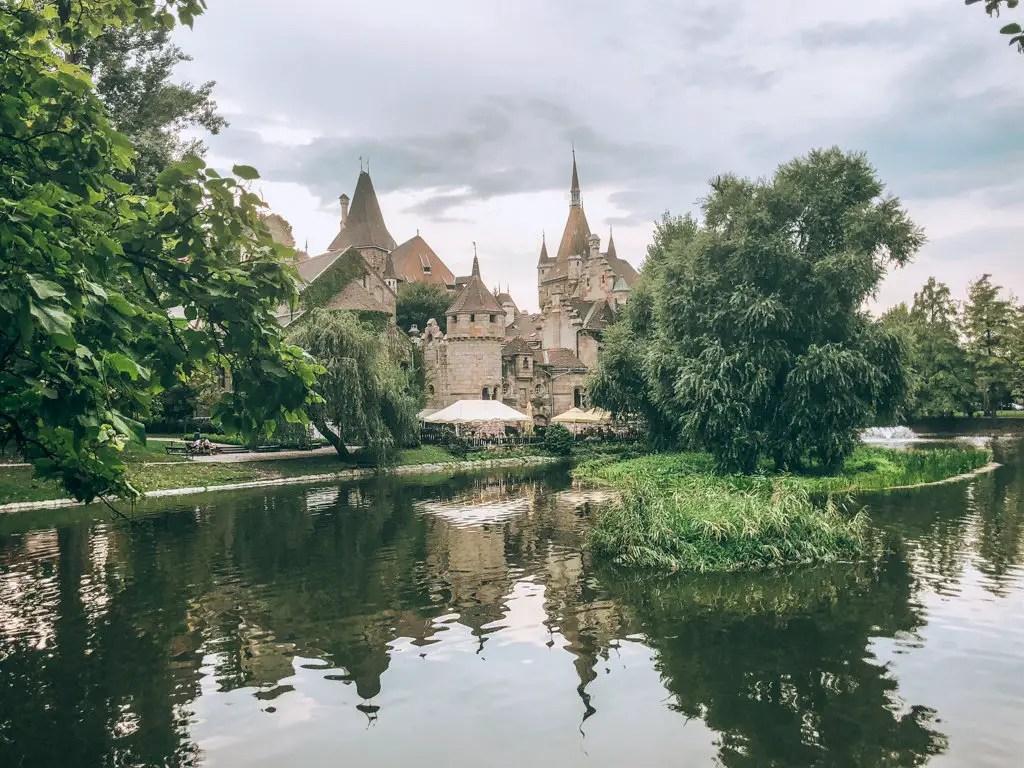 Castle in city park