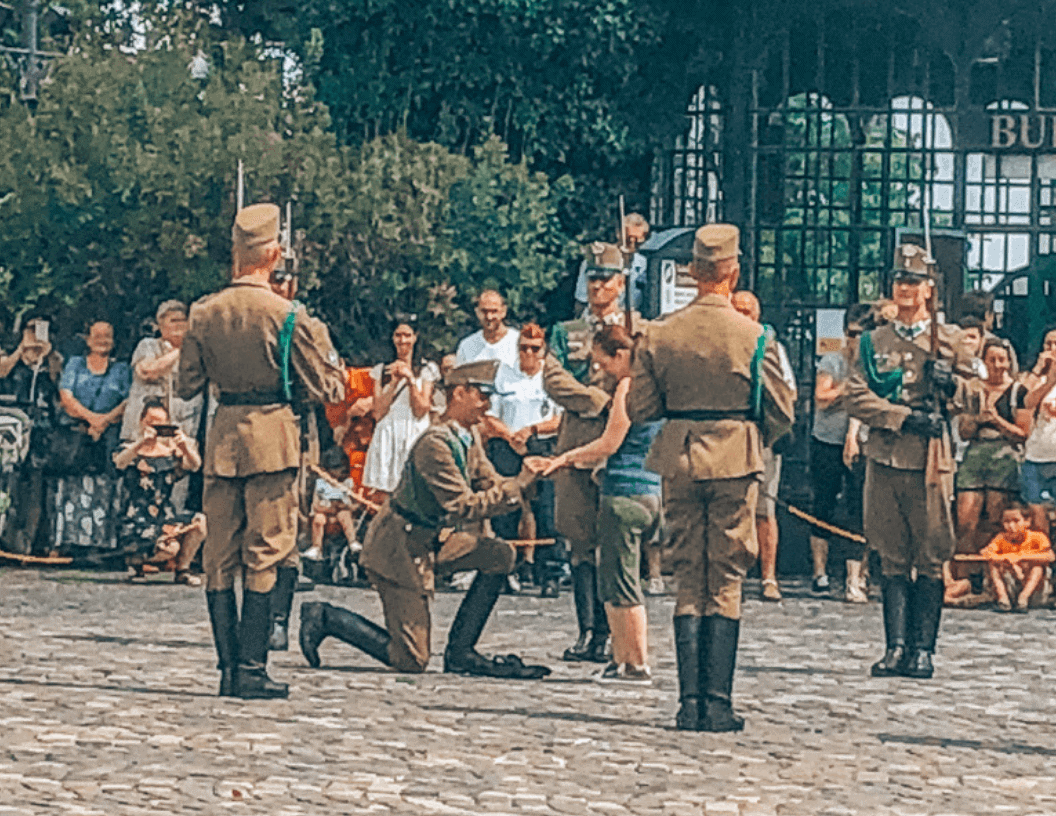 changing of the guard proposal at Buda Castle