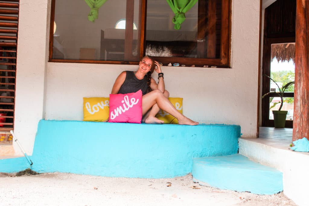 Budget hostel in Mexico with a bar, scooter rentals, and hammocks