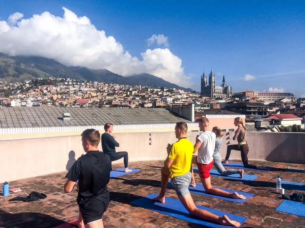 Yoga at Community Hostel, Quito Ecuador