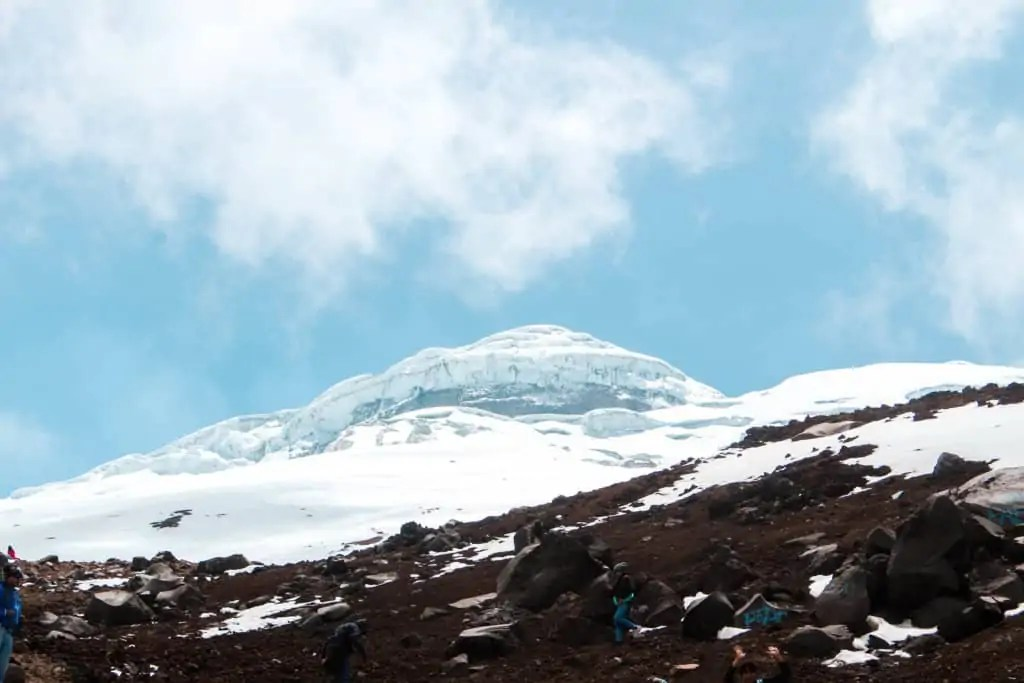 A close up view of Cotopaxi volcano.