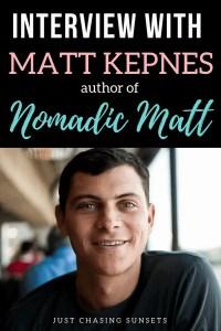 Interview with Matt Kepnes author of Nomadic Matt