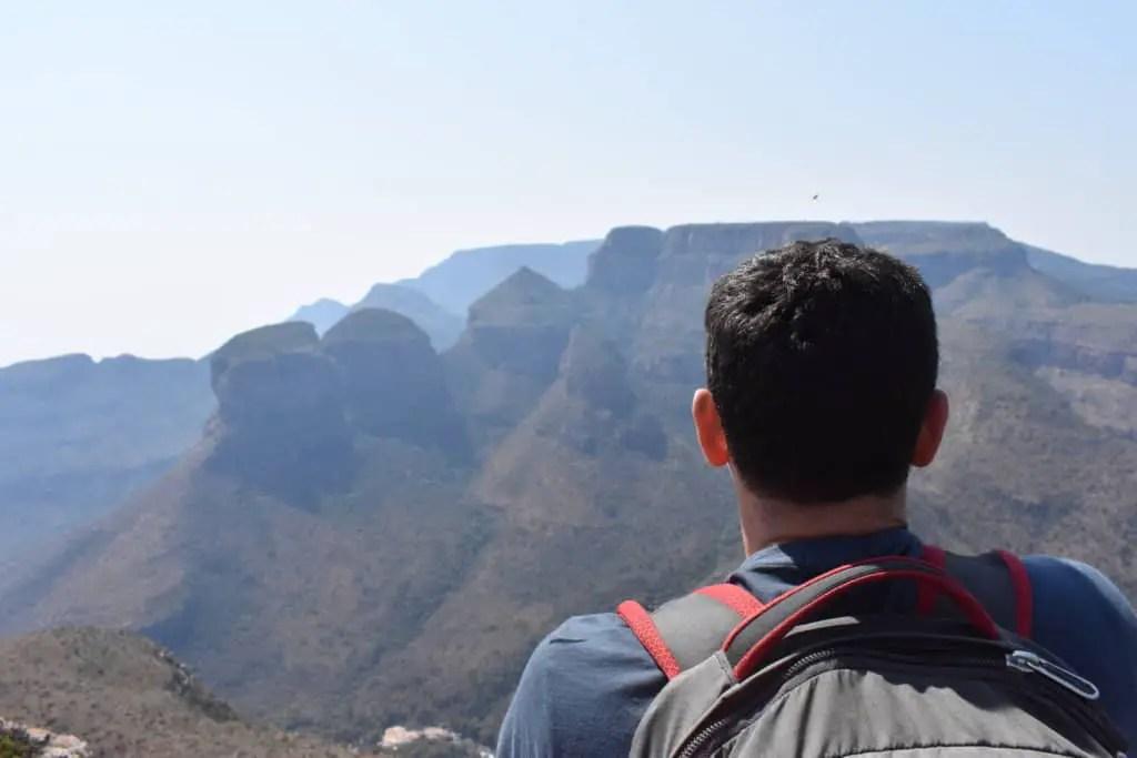 Nomadic Matt overlooking a gorgeous mountain view