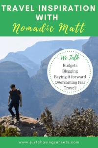 travel inspiration with nomadic matt