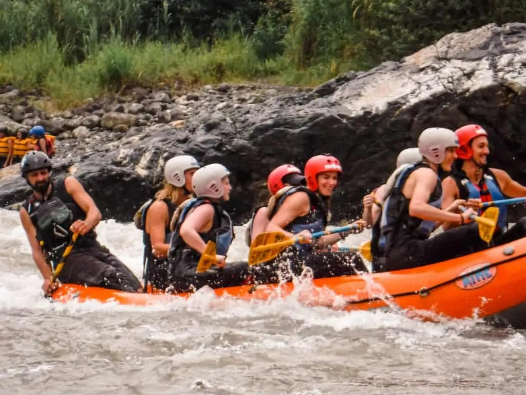 White water rafting the pastaza river