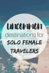 uncommon destinations for solo female travelers