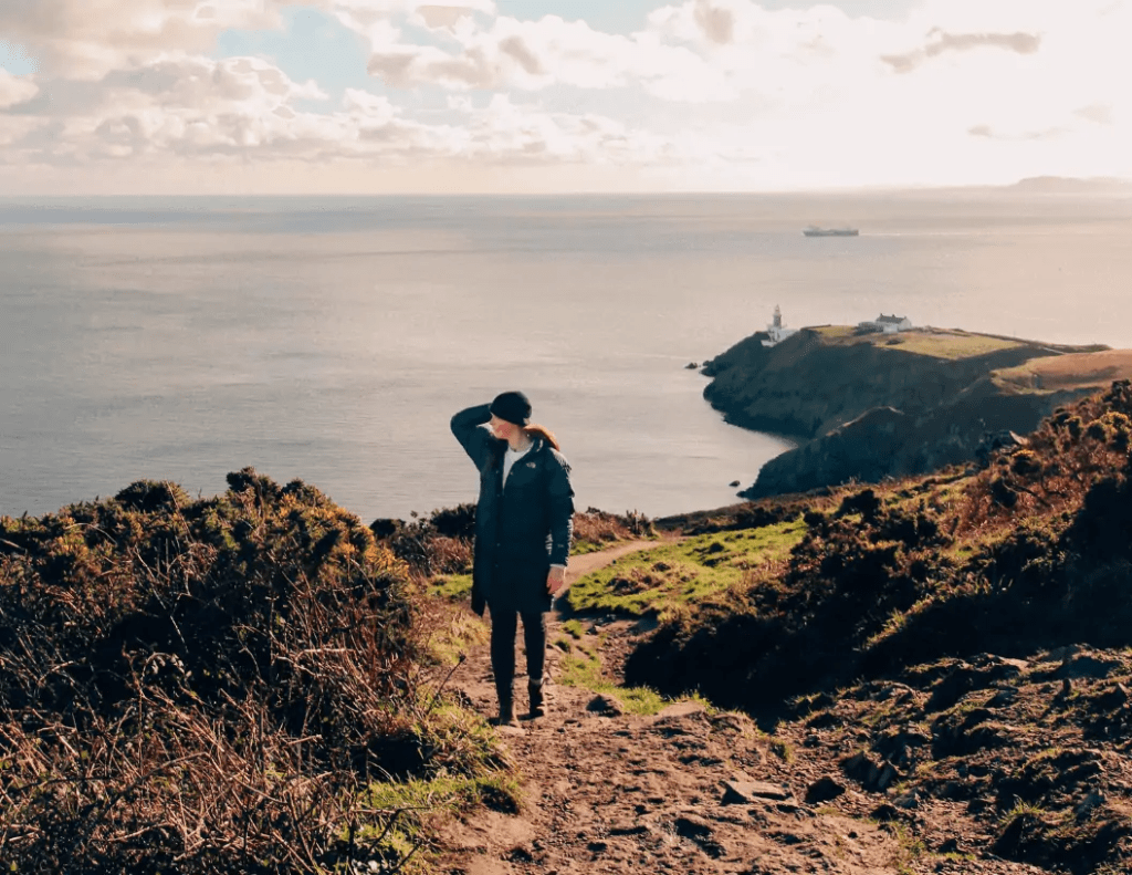 solo cliff walk in Howth, Ireland