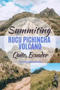 summiting rucu pichincha in ecuador