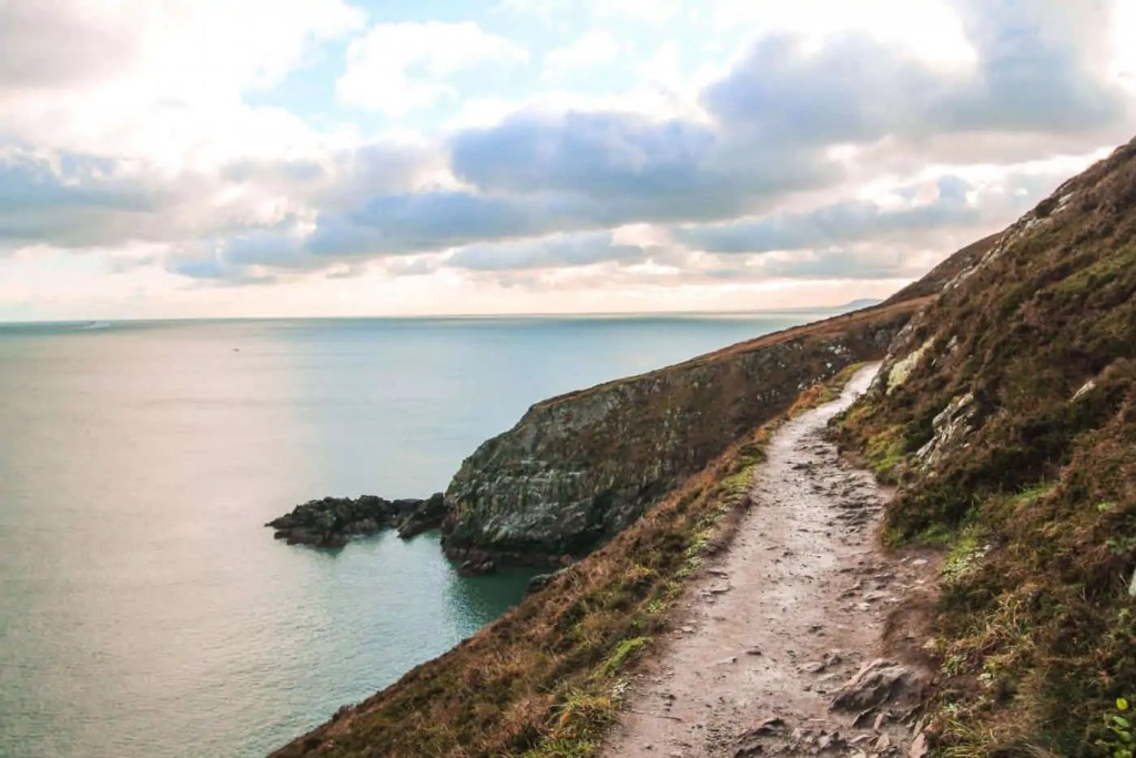 watch your step on the Howth cliff walk