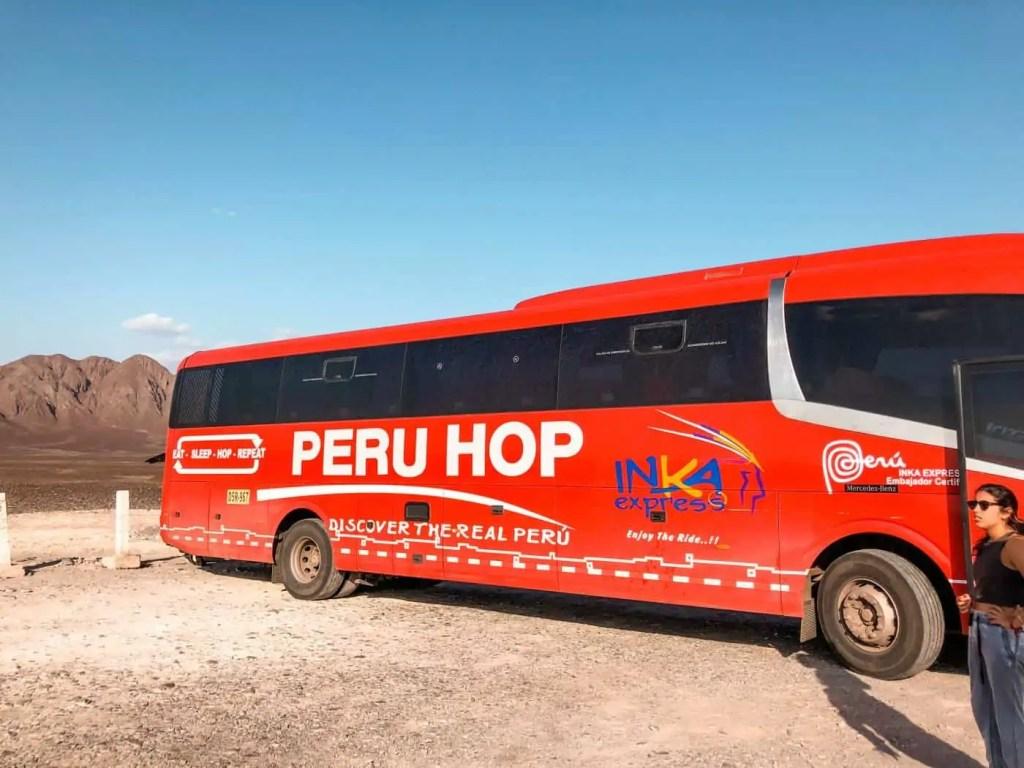 Peru hop on/off bus