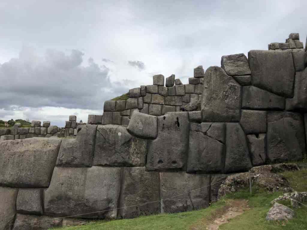The stones of Saqsaywaman in Cusco Peru