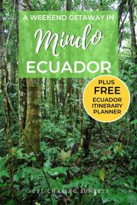 travel to Mindo cloud forest, ecuador