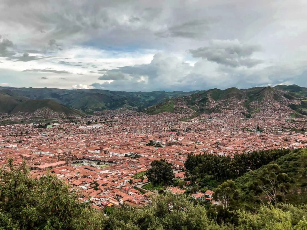 View of Cusco from Saqsaywaman