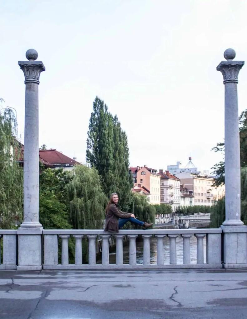 Cobblers bridge in Ljubljana