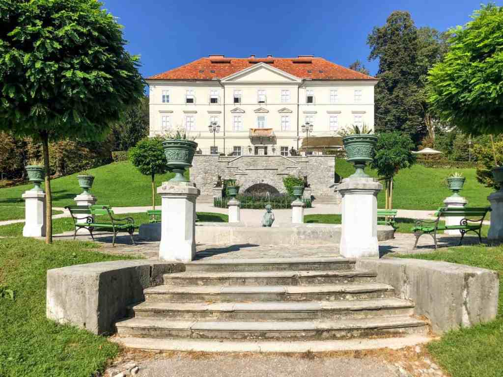 The entrance to Tivoli Park in Ljubljana