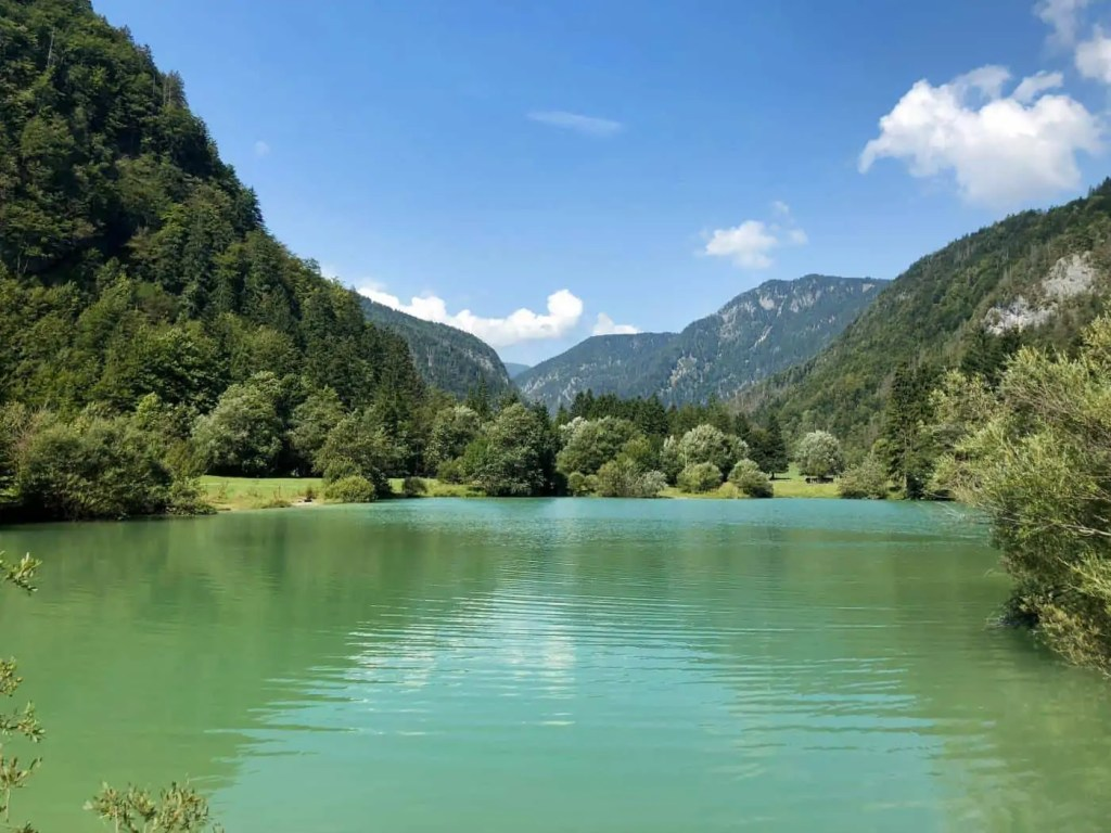 Small Lake Surrounded by the Julian Alps in Triglav National Park